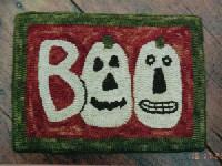 """Hooked """"Boo"""" rug"""