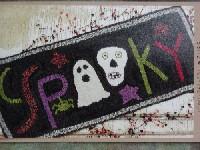 """""""Spooky"""" hooked rug"""