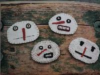 Wool Snohead Pins